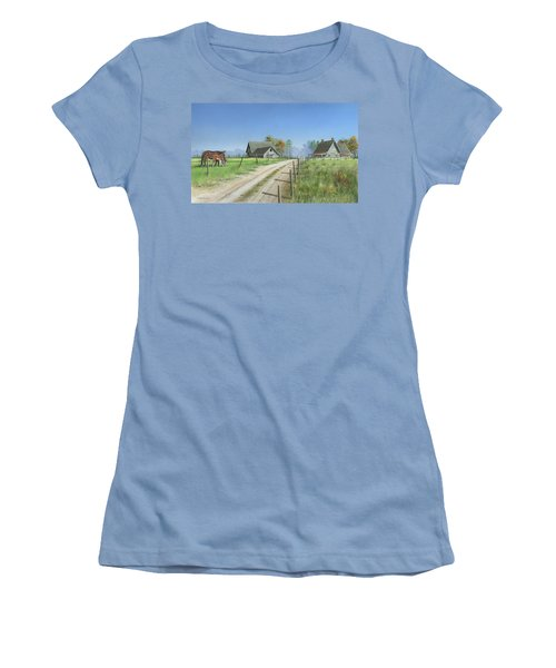 Women's T-Shirt (Junior Cut) featuring the painting A New Beginning by Mike Brown