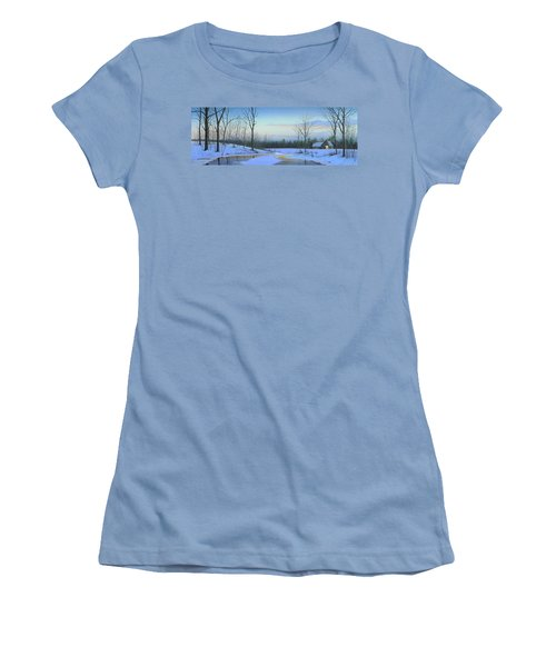 Women's T-Shirt (Junior Cut) featuring the painting A New Dawn by Mike Brown