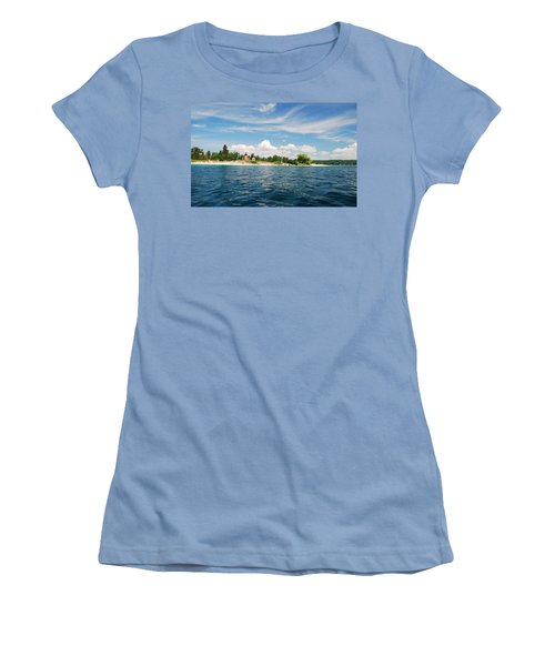 Across The Bay To The Light Women's T-Shirt (Junior Cut) by Janice Adomeit