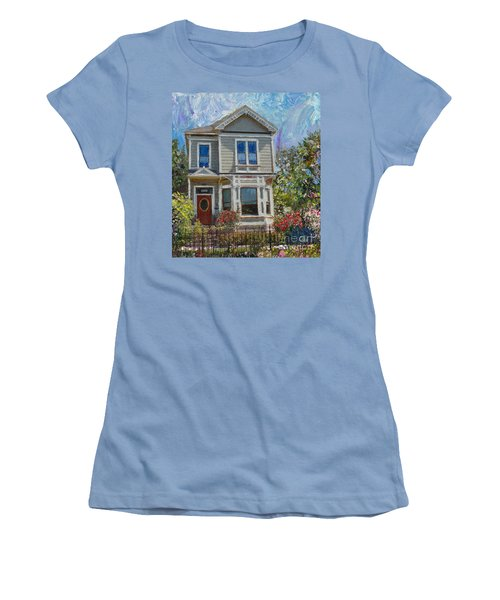 Alameda 1892 Queen Anne Women's T-Shirt (Junior Cut) by Linda Weinstock