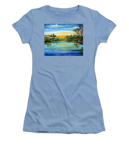 Alba Sul Lago Women's T-Shirt (Athletic Fit)