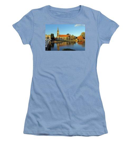 All Saints Church Marlow Women's T-Shirt (Junior Cut) by Tony Murtagh