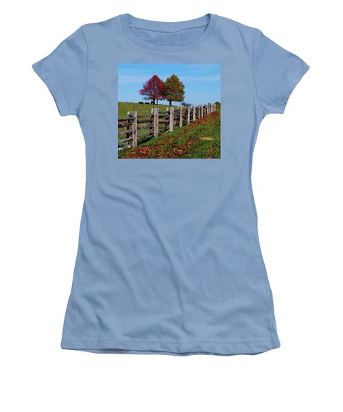Along The Fence Women's T-Shirt (Athletic Fit)