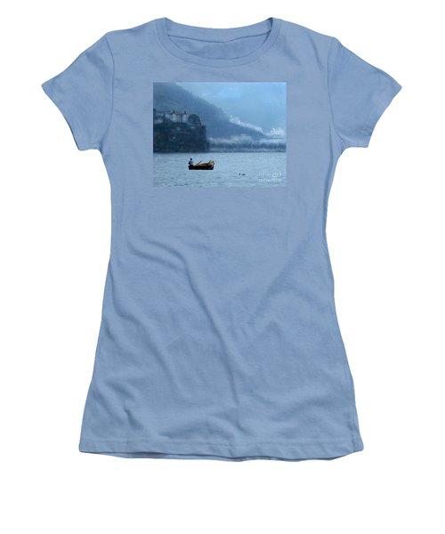 Women's T-Shirt (Junior Cut) featuring the photograph Amalfi To Capri. Italy by Jennie Breeze