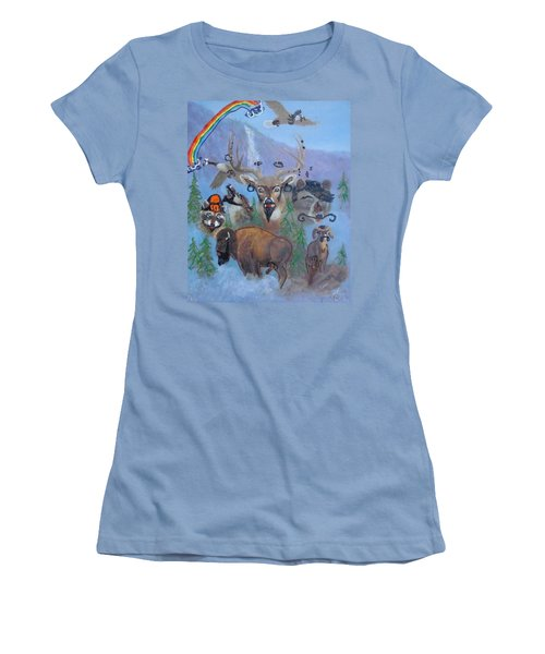 Women's T-Shirt (Junior Cut) featuring the painting Animal Equality by Lisa Piper