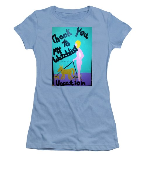 Women's T-Shirt (Junior Cut) featuring the painting Appreciation by Erika Chamberlin
