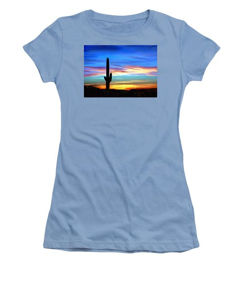 Arizona Sunset Saguaro National Park Women's T-Shirt (Athletic Fit)