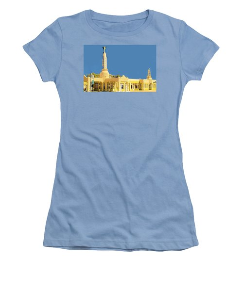 Women's T-Shirt (Junior Cut) featuring the photograph Art Deco Gas Station by Janette Boyd