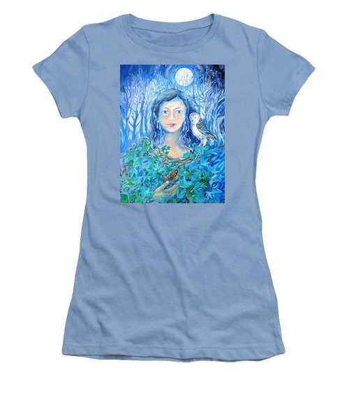 Artemis And The Wren- Women's T-Shirt (Junior Cut) by Trudi Doyle