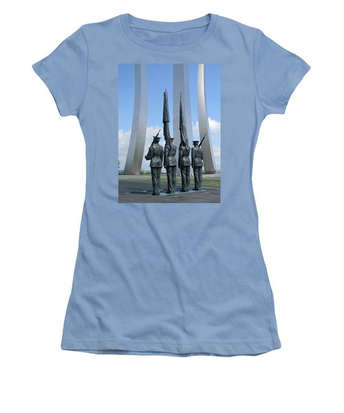 At Attention Women's T-Shirt (Junior Cut) by Jean Goodwin Brooks