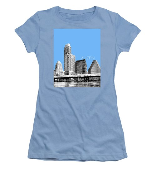 Austin Skyline - Sky Blue Women's T-Shirt (Athletic Fit)