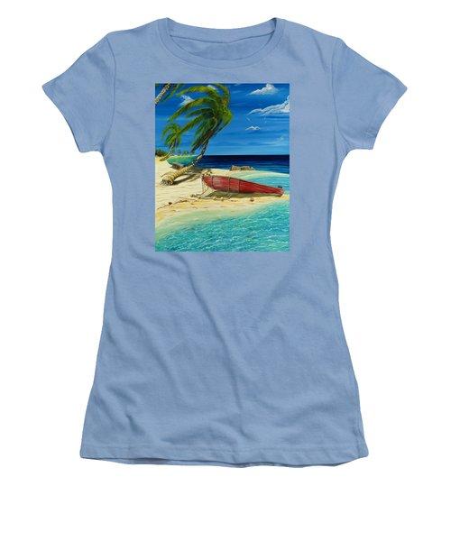 Bahama Beach Women's T-Shirt (Junior Cut) by Steve Ozment