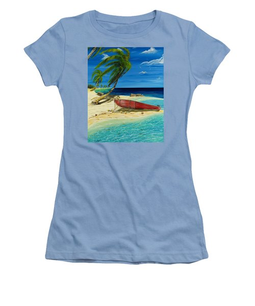 Bahama Beach Women's T-Shirt (Athletic Fit)
