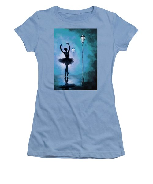 Ballet In The Night  Women's T-Shirt (Junior Cut) by Corporate Art Task Force