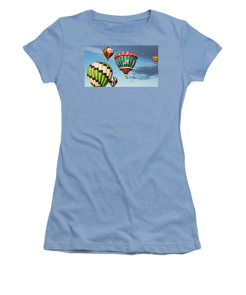 Balloons Away Women's T-Shirt (Junior Cut) by Dave Files