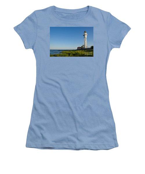 Women's T-Shirt (Junior Cut) featuring the photograph Baltic Sea Lighthouse by Kennerth and Birgitta Kullman