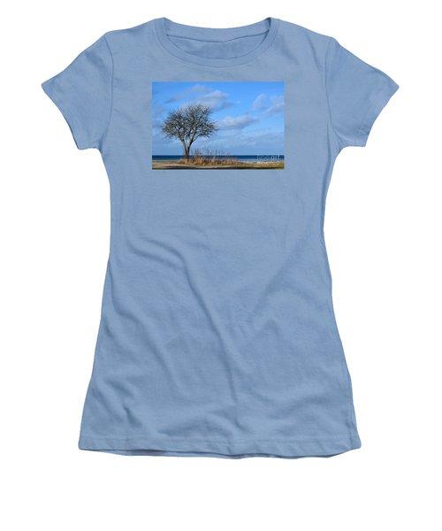 Women's T-Shirt (Junior Cut) featuring the photograph Bare Single Tree by Kennerth and Birgitta Kullman