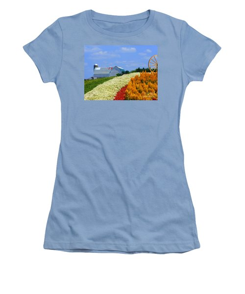 Barn And Quilt Garden Women's T-Shirt (Athletic Fit)