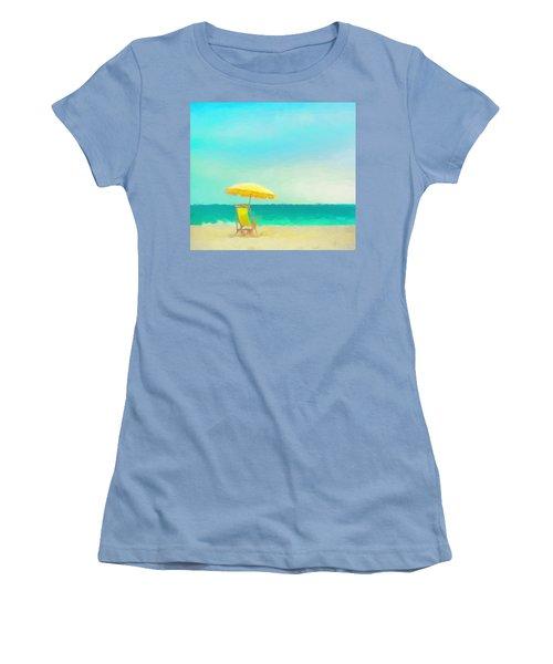 Women's T-Shirt (Junior Cut) featuring the painting Got Beach? by Douglas MooreZart