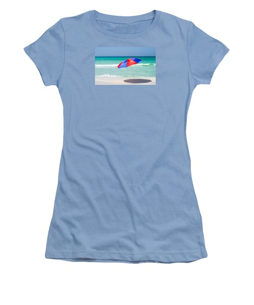 Beach Umbrella Women's T-Shirt (Junior Cut) by Shelby  Young