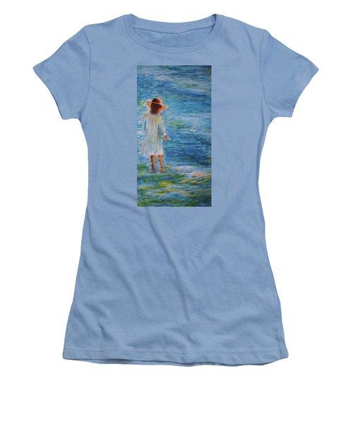 Beach Walker Women's T-Shirt (Athletic Fit)