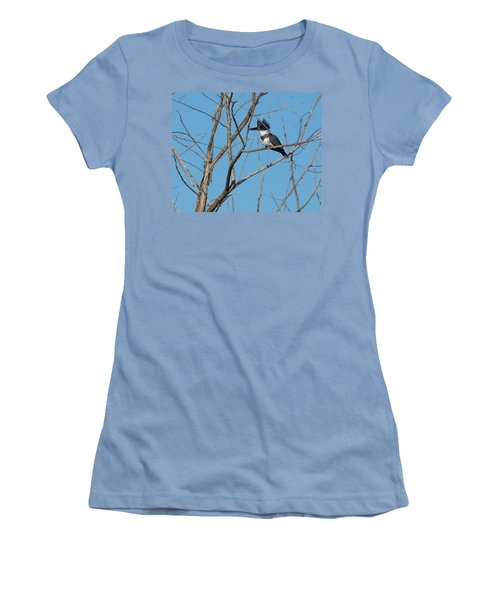 Belted Kingfisher 4 Women's T-Shirt (Athletic Fit)