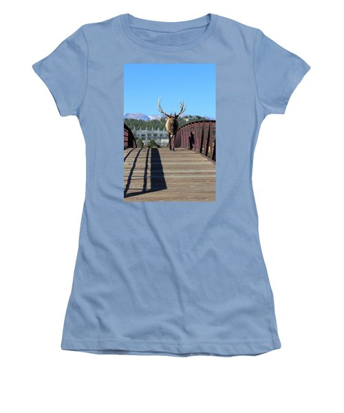 Big Bull On The Bridge Women's T-Shirt (Athletic Fit)