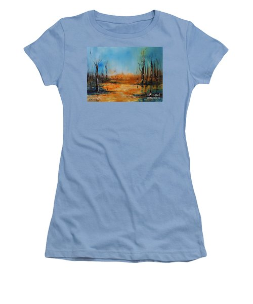 Birches Pond Women's T-Shirt (Athletic Fit)