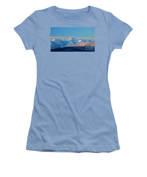 Bitterroot Mountain Morning Women's T-Shirt (Athletic Fit)