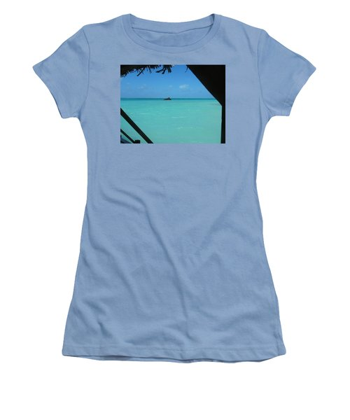 Women's T-Shirt (Junior Cut) featuring the photograph Blue And Green by Photographic Arts And Design Studio
