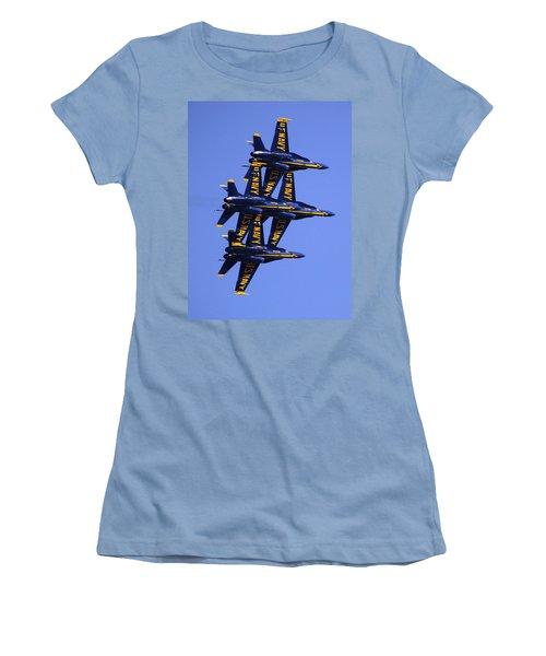 Blue Angels II Women's T-Shirt (Junior Cut) by Bill Gallagher
