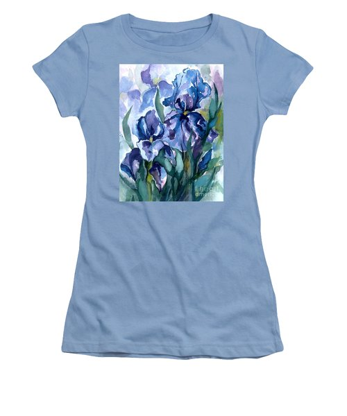 Blue Iris Women's T-Shirt (Athletic Fit)