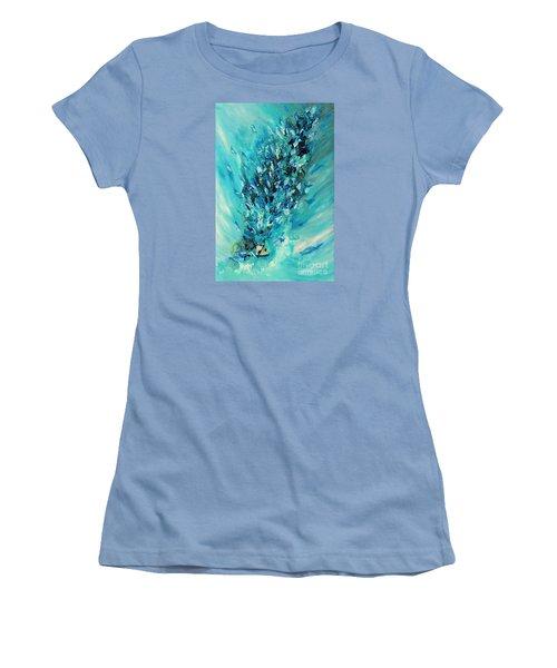 Blue Power Women's T-Shirt (Athletic Fit)