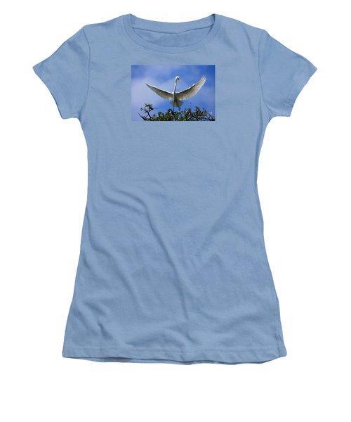Women's T-Shirt (Junior Cut) featuring the photograph Blue Sky Landing by John F Tsumas