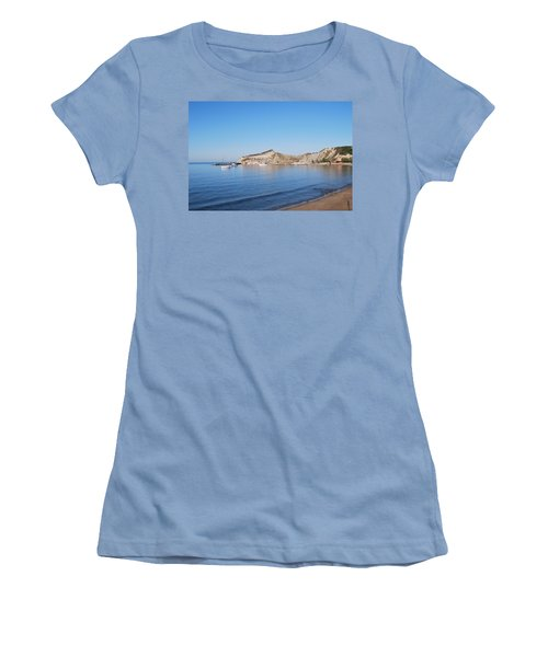 Women's T-Shirt (Junior Cut) featuring the photograph Blue Water by George Katechis