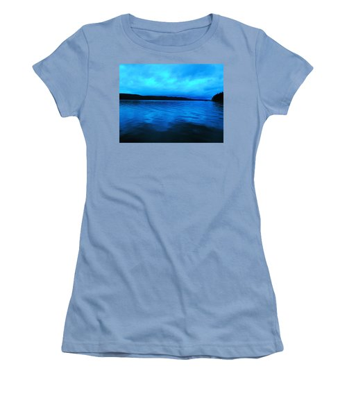 Blue Water In The Morn  Women's T-Shirt (Athletic Fit)