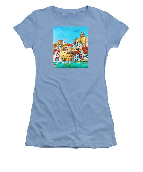 Boats In Front Of The Buildings Vii Women's T-Shirt (Junior Cut) by Xueling Zou