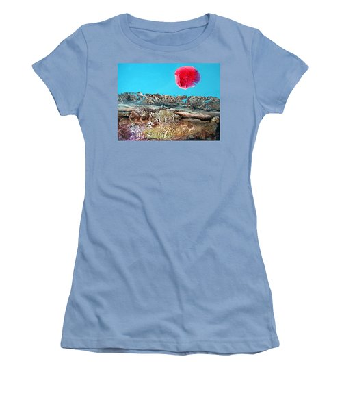 Women's T-Shirt (Junior Cut) featuring the painting Bogomil Sunrise 2 by Otto Rapp