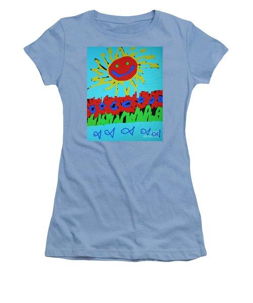Brians Art Women's T-Shirt (Junior Cut) by Douglas Stucky