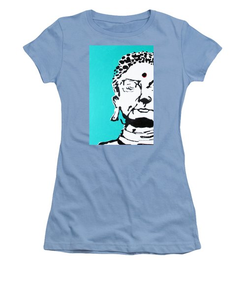 Women's T-Shirt (Junior Cut) featuring the painting Buddha by Nicole Gaitan