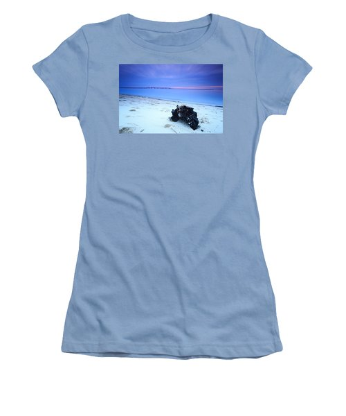 Burnt Driftwood Sunset Women's T-Shirt (Athletic Fit)