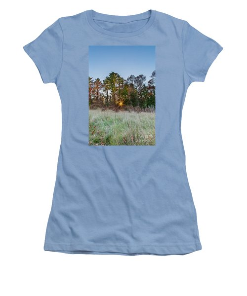Burst Thru The Woods Women's T-Shirt (Athletic Fit)
