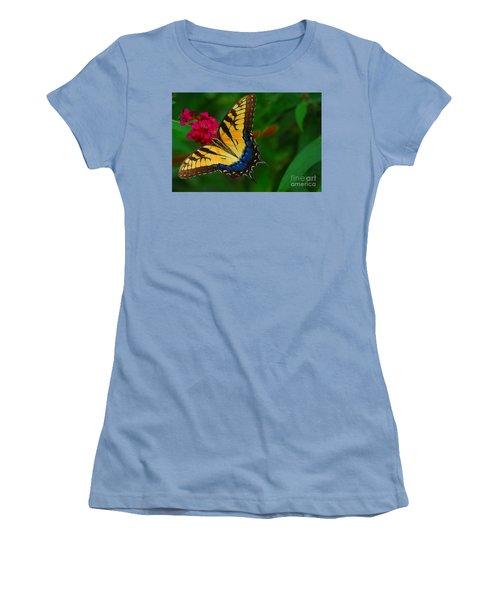 Women's T-Shirt (Junior Cut) featuring the photograph Butterfly by Geraldine DeBoer