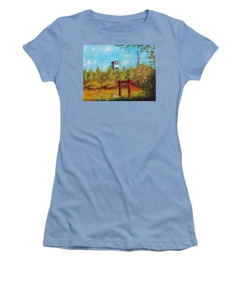 Camel Top Fire Tower Women's T-Shirt (Junior Cut) by Jason Williamson
