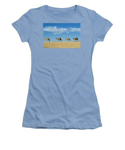 Camel Train Women's T-Shirt (Athletic Fit)