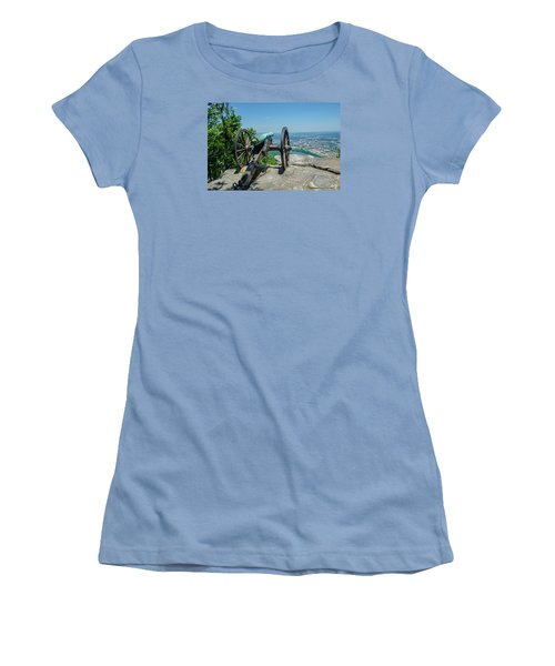 Women's T-Shirt (Junior Cut) featuring the photograph Cannon At Point Park by Susan  McMenamin