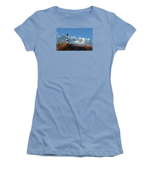 Cape Hatteras Lighthouse Nc Women's T-Shirt (Junior Cut) by Skip Willits
