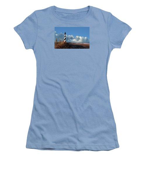 Cape Hatteras Lighthouse Nc Women's T-Shirt (Junior Cut) by Skip Willits