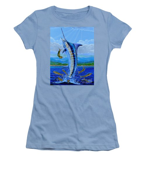 Caribbean Blue Off0041 Women's T-Shirt (Athletic Fit)