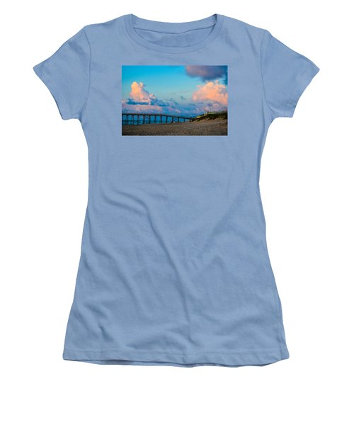 Carolina Blue Over Kure Beach Women's T-Shirt (Athletic Fit)